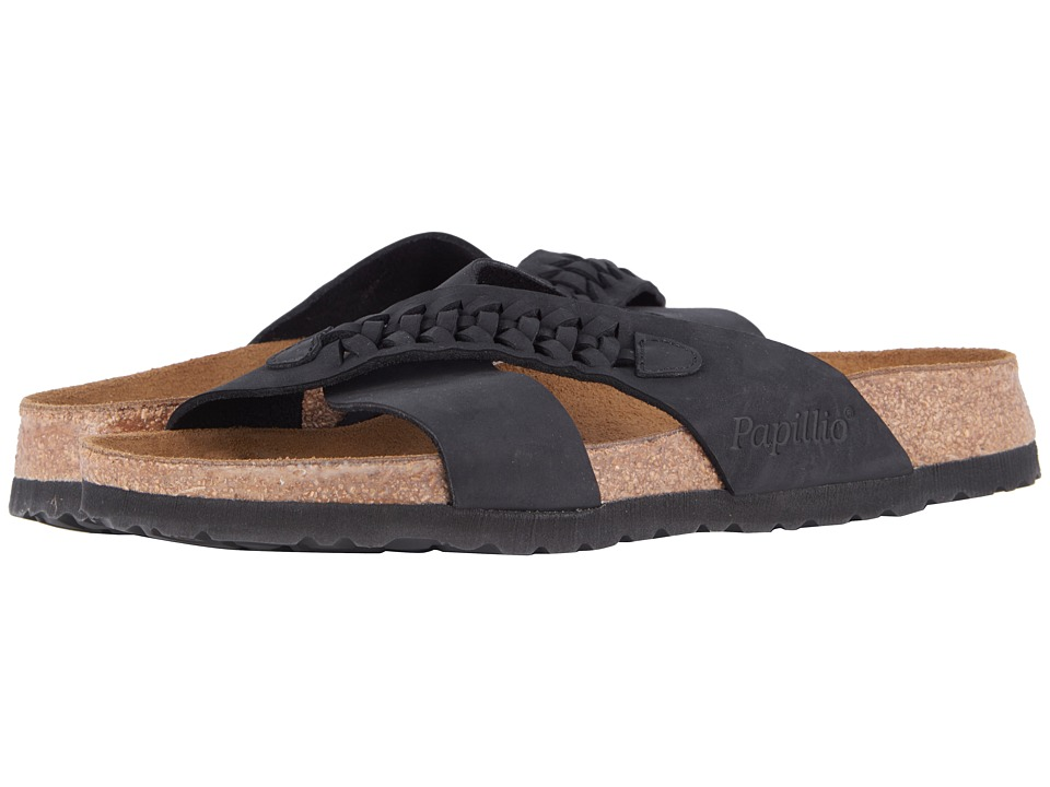Birkenstock - Daytona (Woven Black Oiled Leather) Women's Sandals