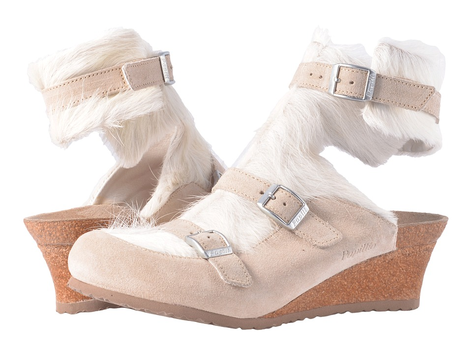 Birkenstock Anuk Premium Collection (Arctic/Off-White Suede) Women