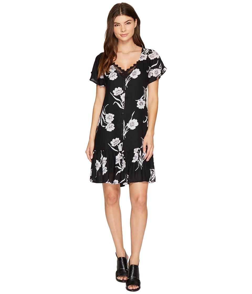Volcom Slipinslide Dress (Black) Women