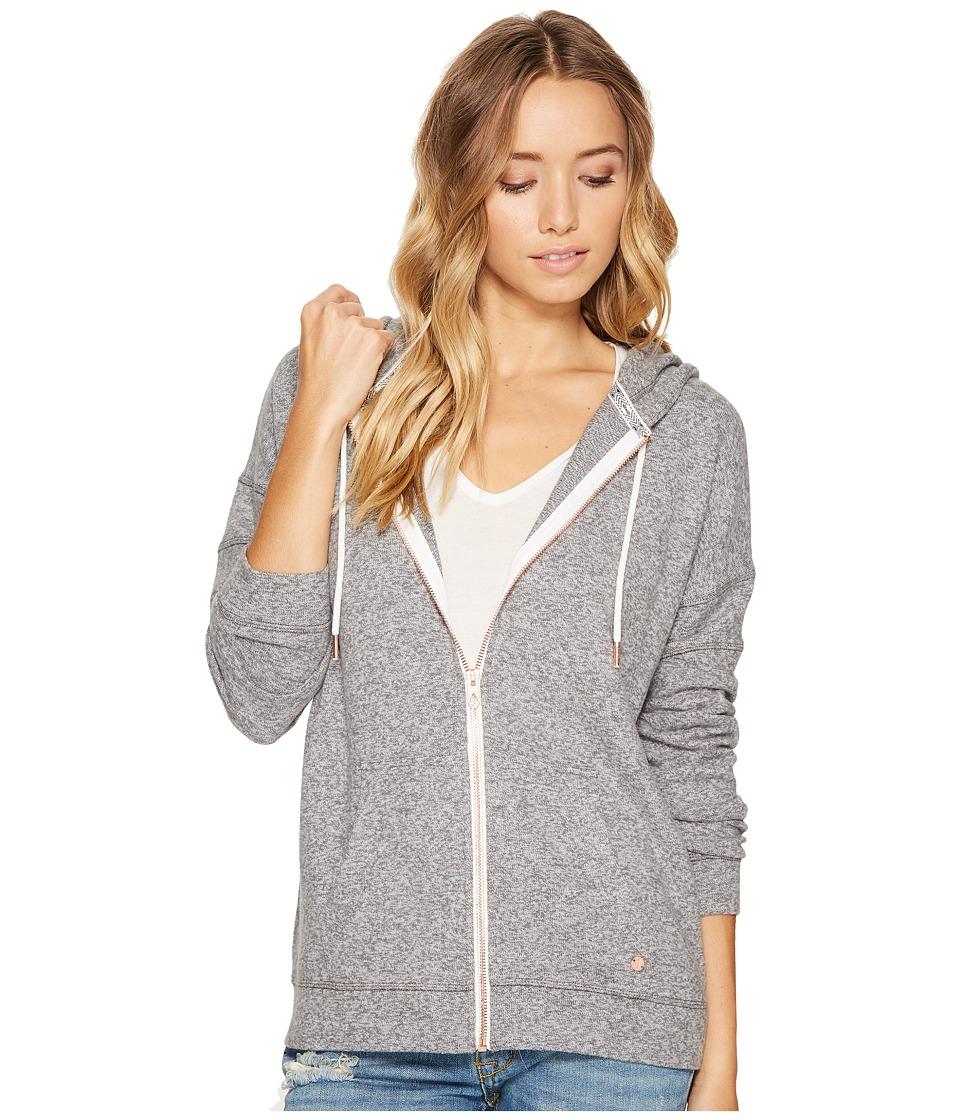 Volcom Lil Zip Fleece Hoodie (Charcoal Grey) Women