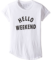 The Original Retro Brand Kids - Hello Weekend Crew Neck Slub Tee (Big Kids)