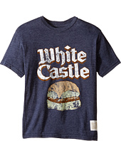 The Original Retro Brand Kids - Short Sleeve Tri-Blend White Castle Tee (Big Kids)