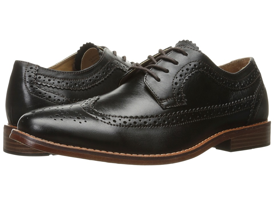 G.H. Bass & Co. Clinton (Black Burnished Full Grain) Men