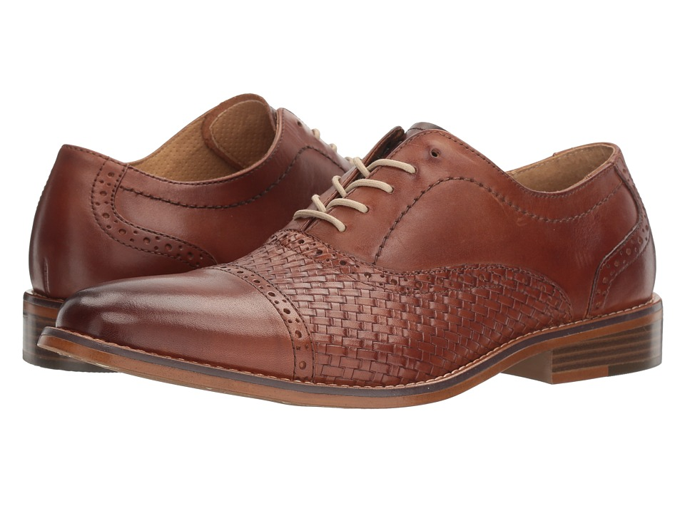 Rockabilly Men's Clothing G.H. Bass amp Co. - Cole British Tan Burnished Full GrainWoven Embossed Mens Slip on  Shoes $119.95 AT vintagedancer.com