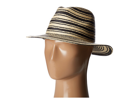 rag & bone Panama Hat - Black Multi