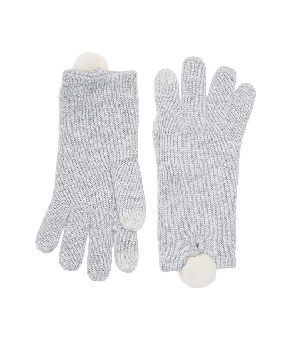 UGG Smart Gloves with Fur Pom (Sterling Heather Multi) Extreme Cold Weather Gloves