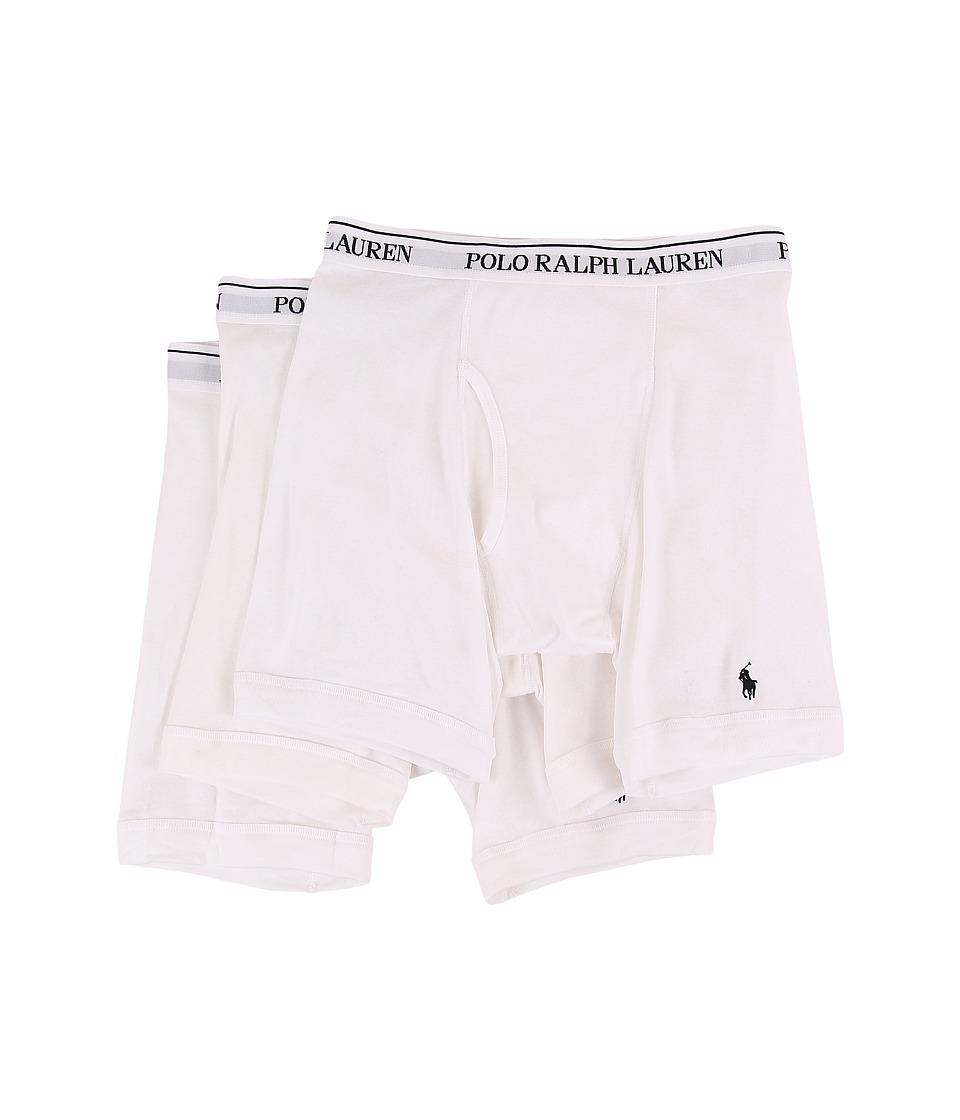 Polo Ralph Lauren 3-Pack Long Leg Boxer Brief (White) Men