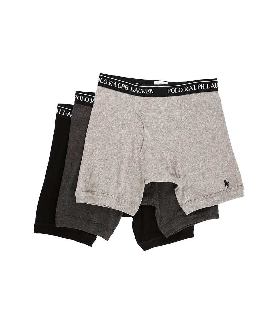 Polo Ralph Lauren 3-Pack Long Leg Boxer Brief (Andover Heather) Men