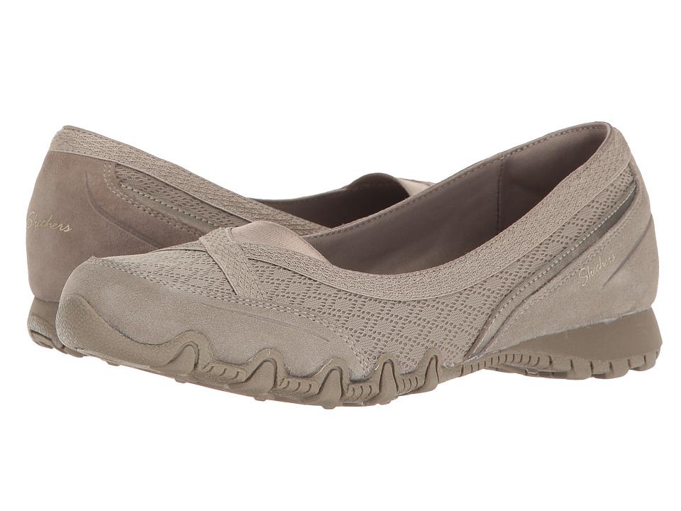Skechers Bikers - Skim (Dark Taupe) Women's Shoes