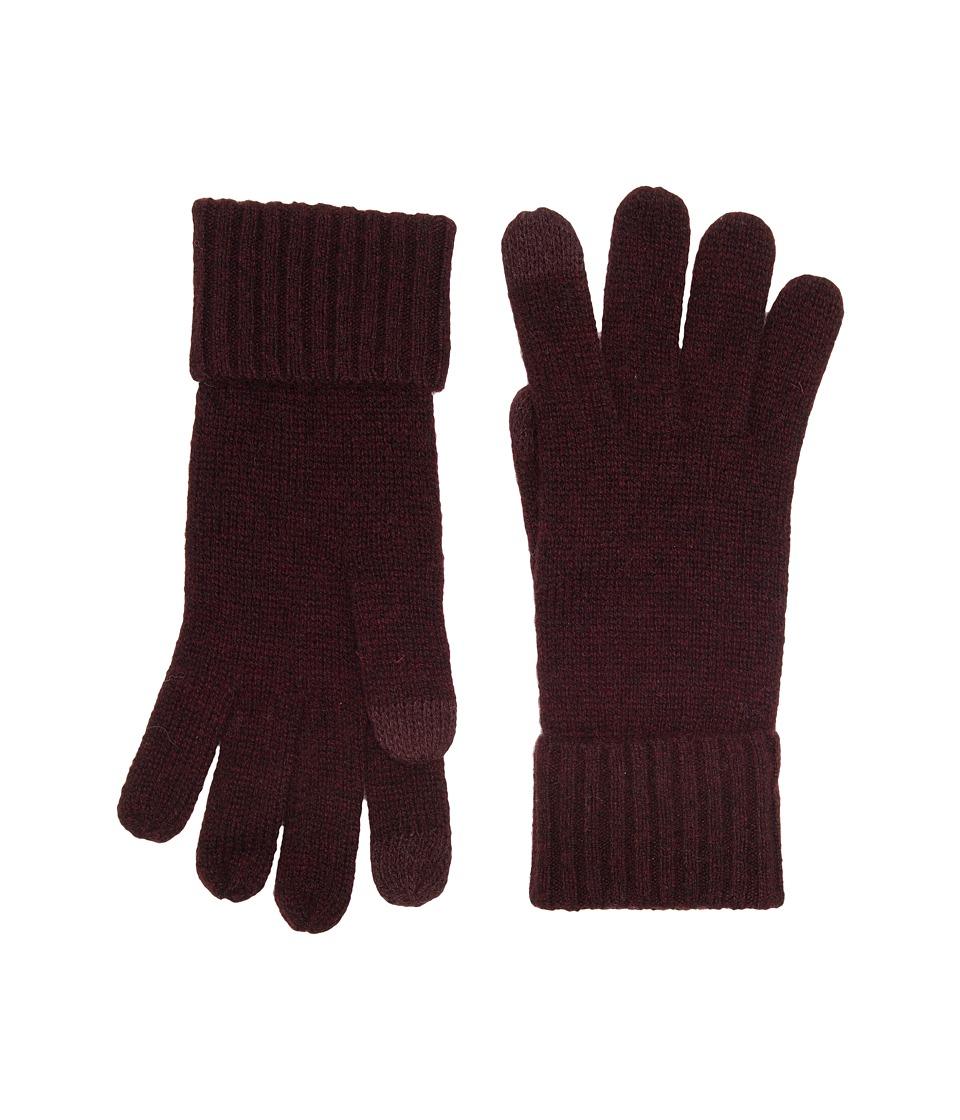 UGG Knit Smart Gloves (Port) Extreme Cold Weather Gloves