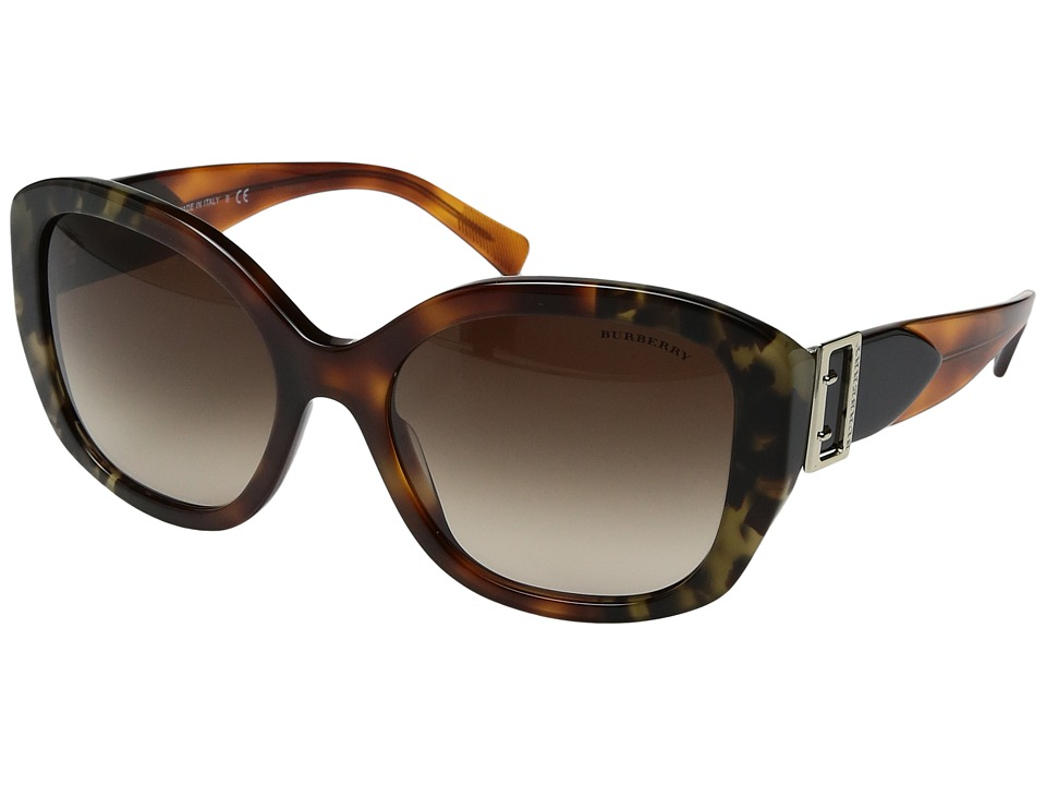 Burberry - 0BE4248 (Brown Tortoise/Gradient Brown) Fashion Sunglasses