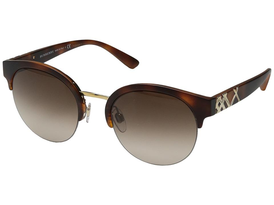 Burberry - 0BE4241 (Matte Light Tortoise/Gradient Brown) Fashion Sunglasses