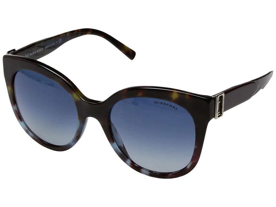 Burberry - 0BE4243 (Green/Blue Tortoise/Grey Gradient Blue) Fashion Sunglasses
