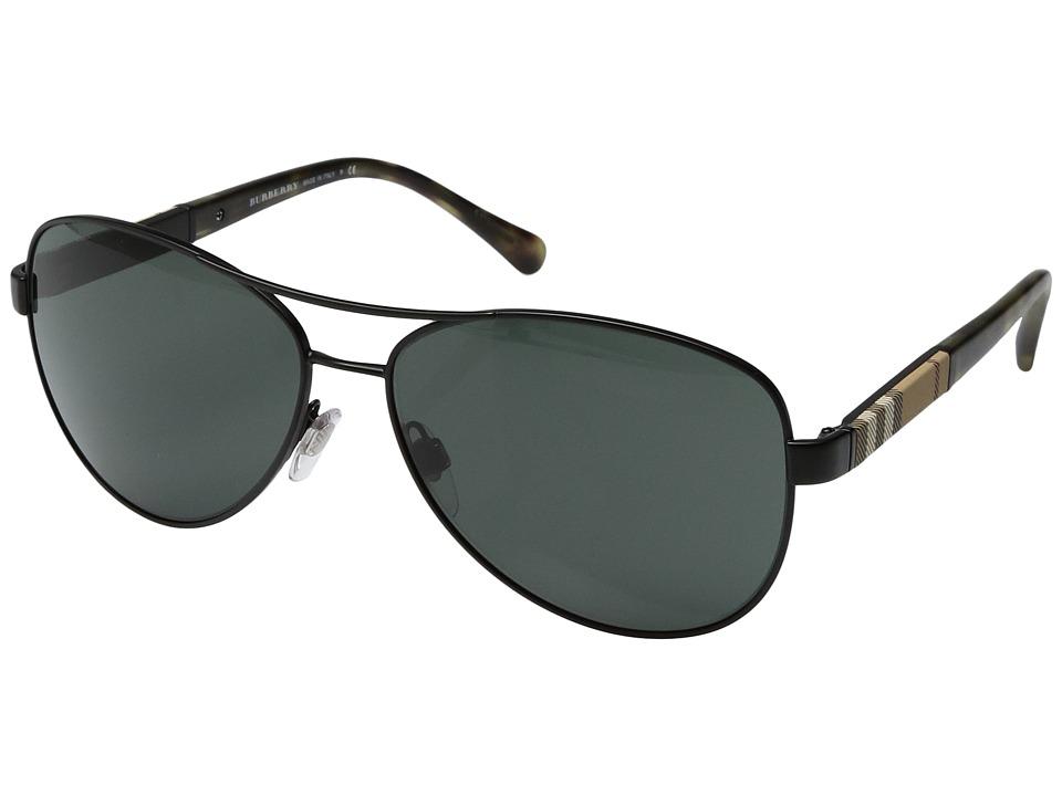 Burberry - 0BE3080 (Matte Green/Grey Green) Fashion Sunglasses