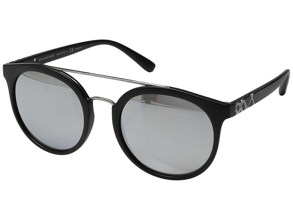 Burberry - 0BE4245 (Matte Black/Silver Mirror) Fashion Sunglasses