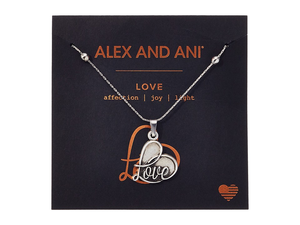 Alex and Ani - Path of Symbols - Love IV Swarovski Expandable Necklace w/ Swarovski Crystals