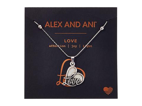 Alex and Ani Path of Symbols - Love IV Swarovski® Expandable Necklace w/ Swarovski® Crystals - Rafaelian Silver
