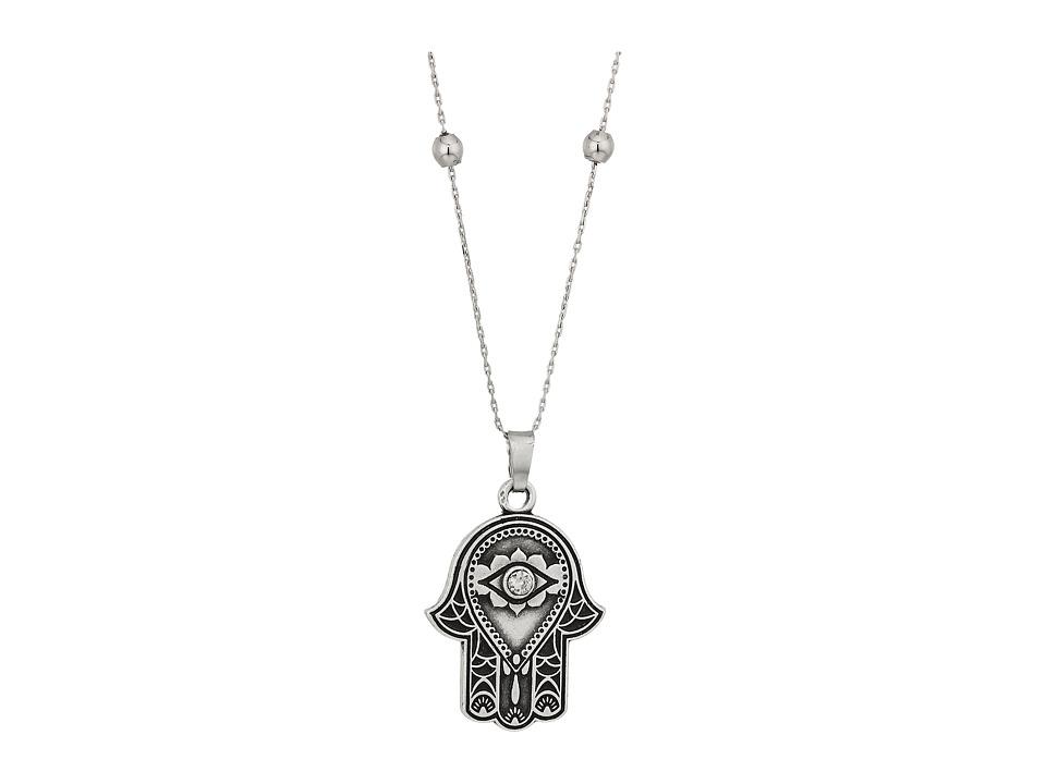 Alex and Ani - Path of Symbols - Hand of Fatima III Expandable Necklace w/ Swarovski Crystals