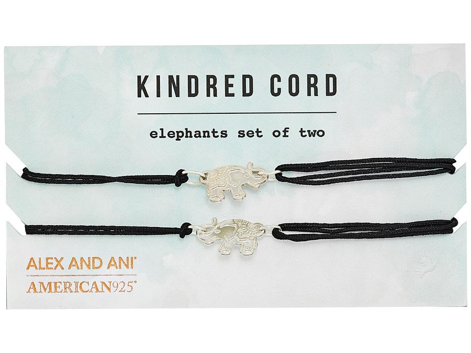 Alex and Ani - Elephants Kindred Cord Charm Bracelet (Sterling Silver) Bracelet