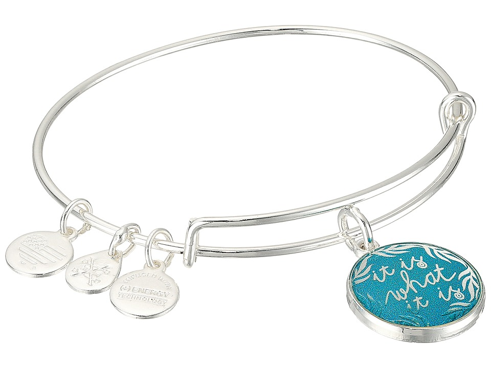 Alex and Ani - Words are Powerful - It is What It is II Bangle (Shiny Sliver) Bracelet
