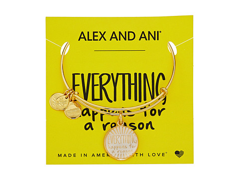 Alex and Ani Words are Powerful - Everything Happens for a Reason II Bangle - Shiny Gold