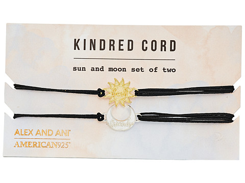 Alex and Ani Sun and Moon Kindred Cord Charm Bracelet - 14kt Gold Plate