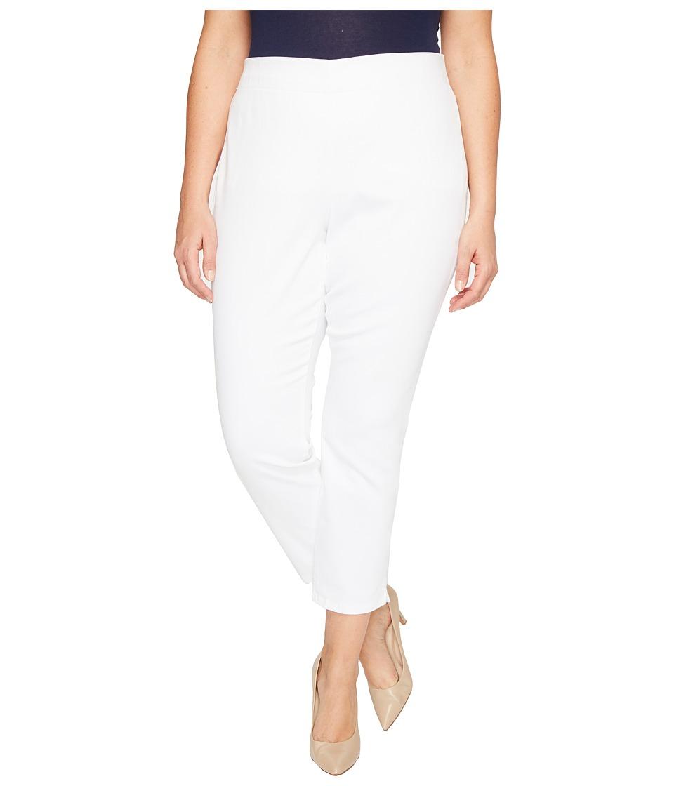 NYDJ Plus Size Plus Size Alina Pull-On Ankle Jeans in Endless White (Endless White) Women