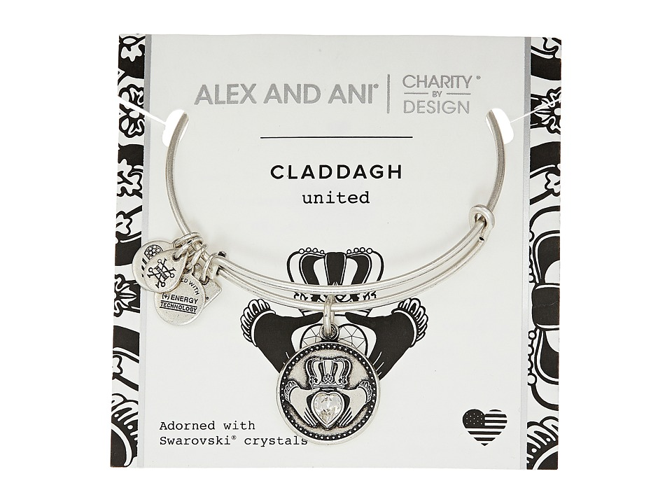 Alex and Ani - Charity By Design Claddagh Bangle - Boston Celtics Shamrock Foundation