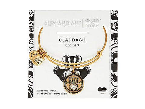 Alex and Ani Charity By Design Claddagh Bangle - Boston Celtics Shamrock Foundation - Rafaelian Gold