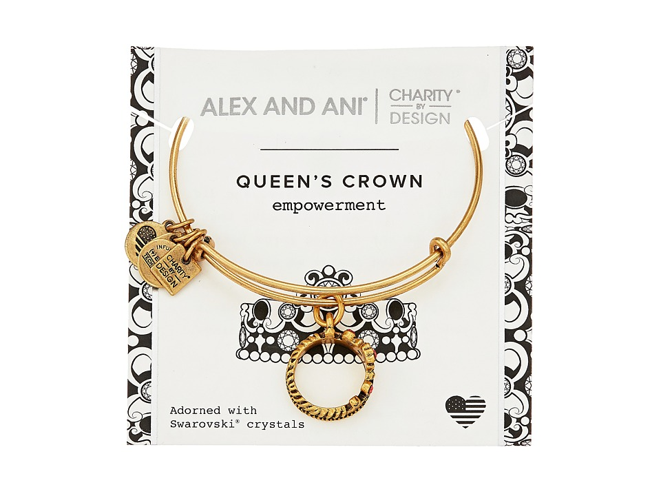 Alex And Ani Charity by Design Queen's Crown Bangle (Rafa...