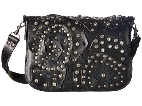 Patricia Nash Rosa Square Flap Saddle Bag - Black 1