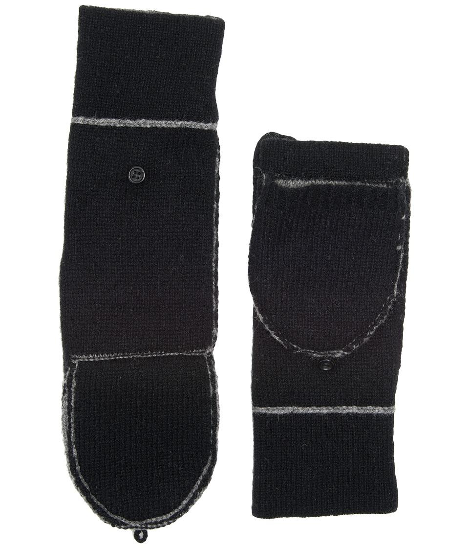 UGG Two Color Flip Mitten (Black Multi) Extreme Cold Weather Gloves