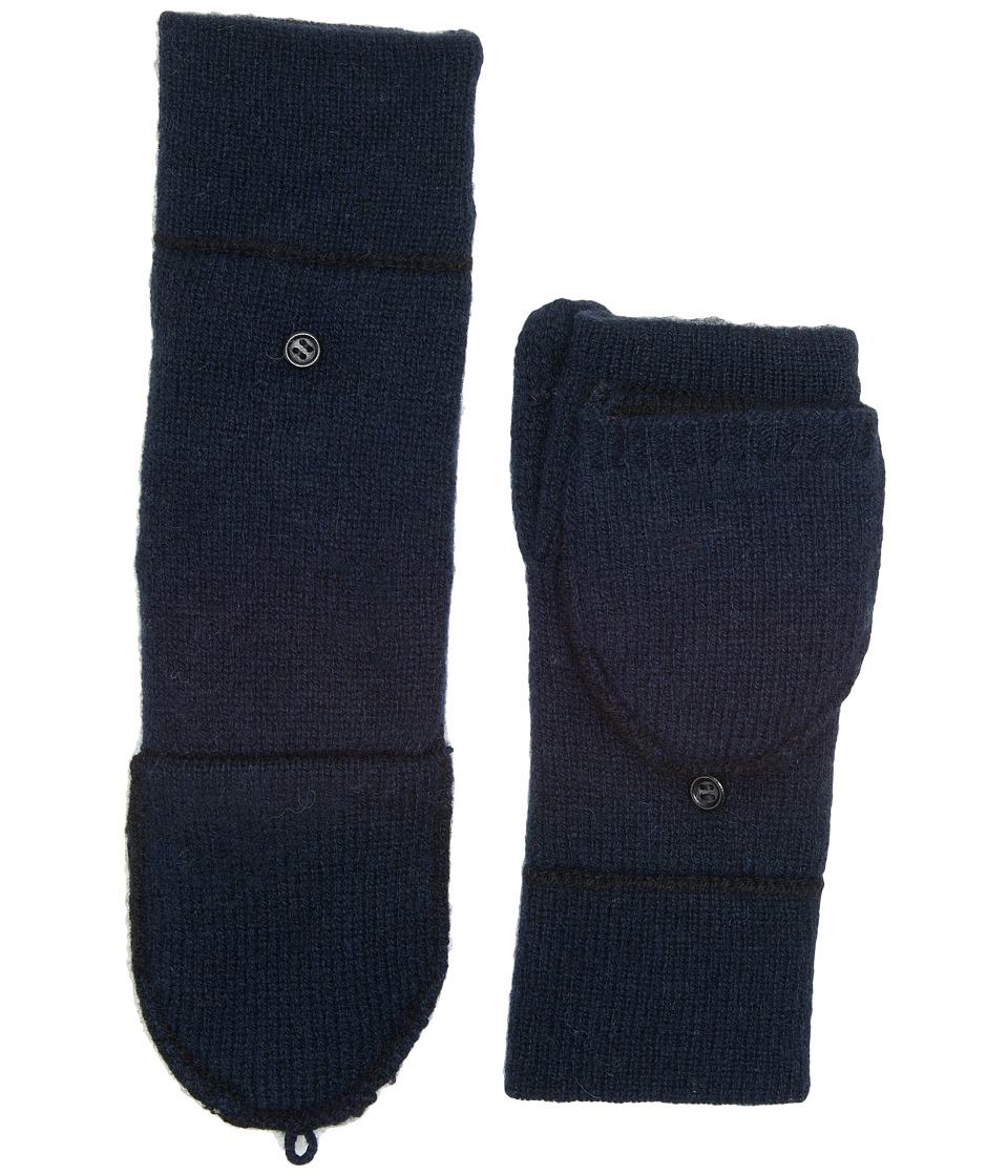 UGG Two Color Flip Mitten (Navy Multi) Extreme Cold Weather Gloves