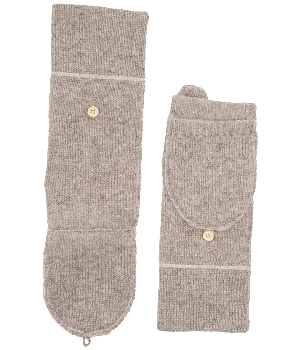 UGG Two Color Flip Mitten (Oatmeal Heather Multi) Extreme Cold Weather Gloves
