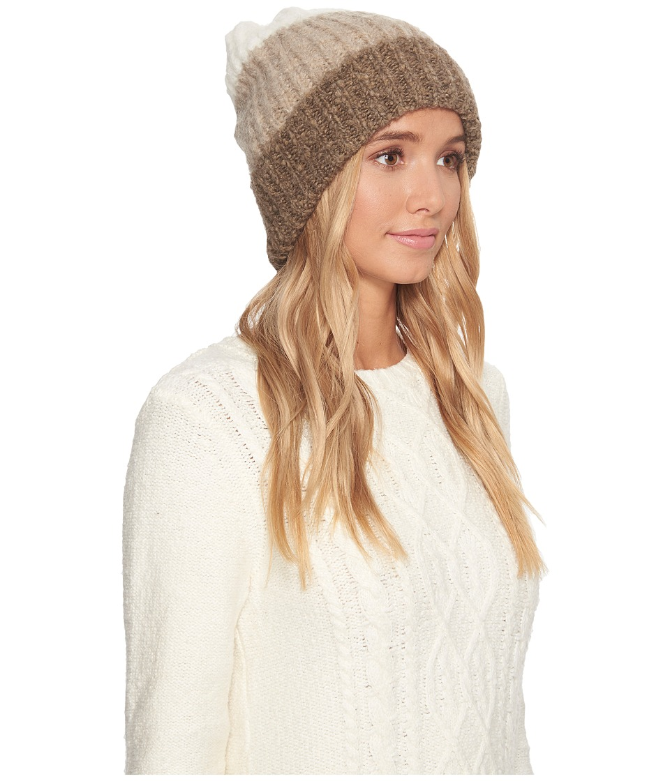 UGG - Three Color Lofty Pom Hat (Oatmeal Multi) Cold Weather Hats
