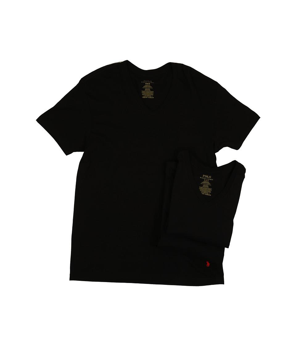 Ralph Lauren 3-Pack V-Neck T-Shirt (Black) Men's T Shirt