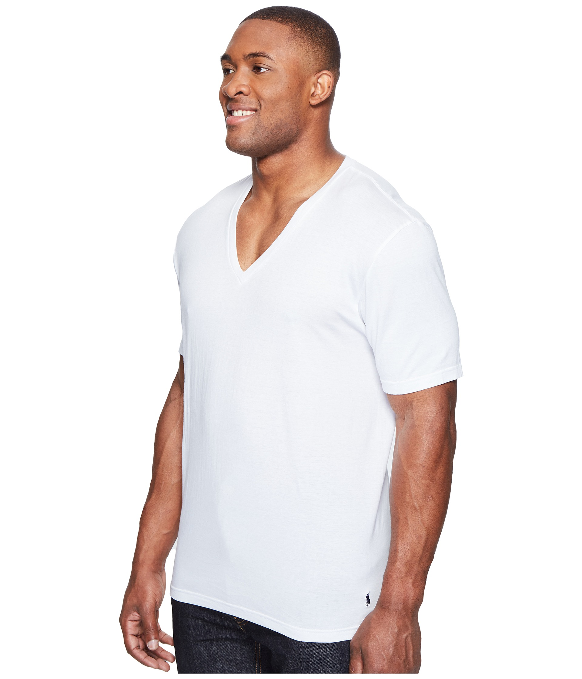 Polo ralph lauren 2 pack tall v neck t shirt at for Tall v neck t shirts