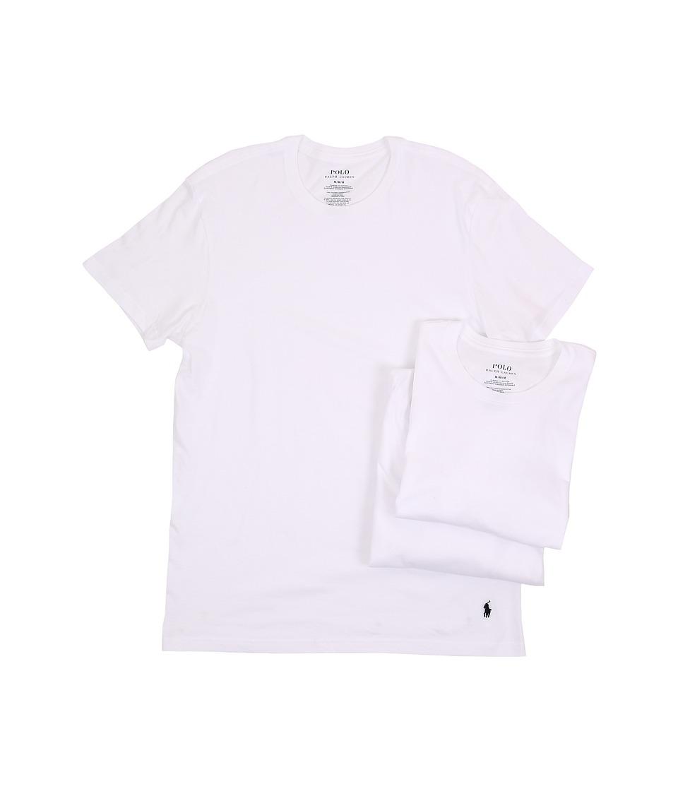 Ralph Lauren 3-Pack Crew T-Shirt (White) Men's T Shirt