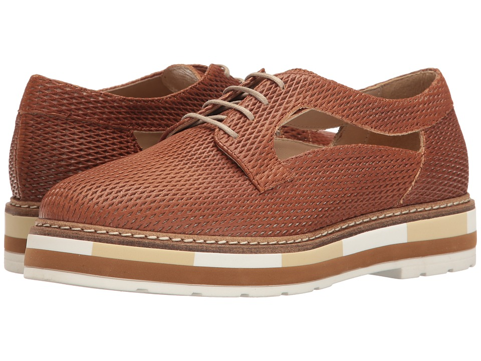 Summit by White Mountain Bexley (Cognac Textured Leather) Women