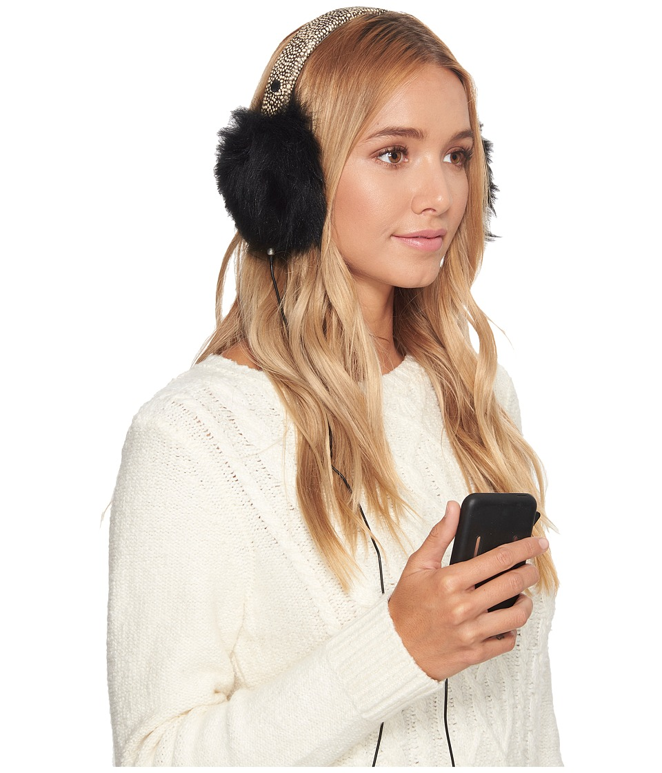 Ugg Leopard Wired Earmuff (Black Micro Dot) Cold Weather ...