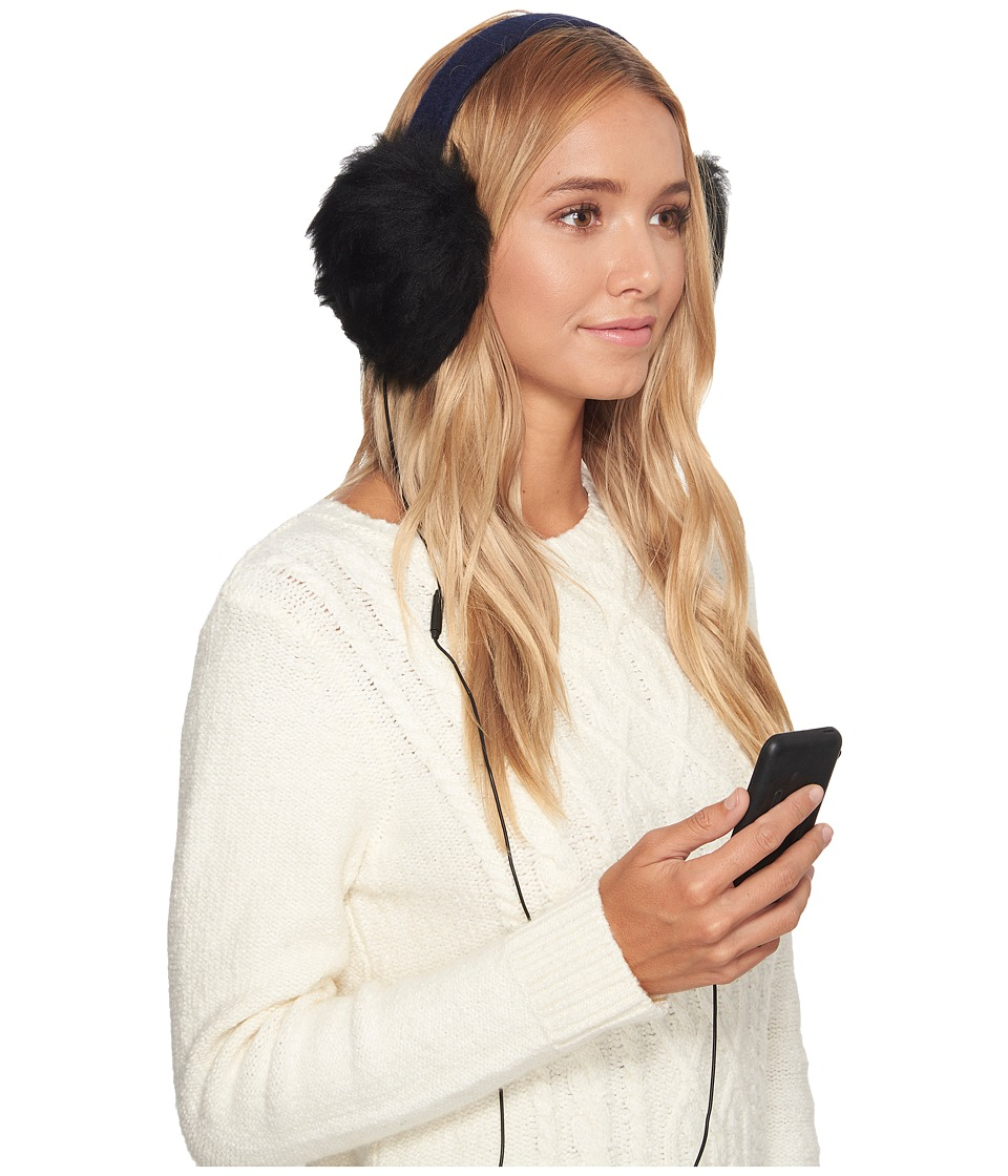 Ugg Wool Wired Earmuff (New Navy) Cold Weather Hats