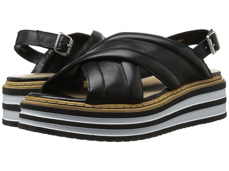 Summit by White Mountain - Leanna (Black Leather) Womens Shoes