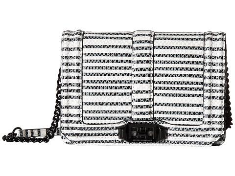 Rebecca Minkoff Striped Snake Small Love Crossbody - Black/White
