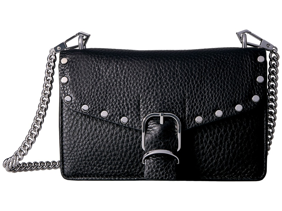 Rebecca Minkoff Biker Mini Crossbody (Black) Cross Body H...