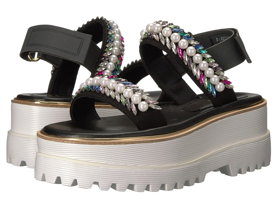 Suecomma Bonnie Jewel Detailed High Platform (Black) Women