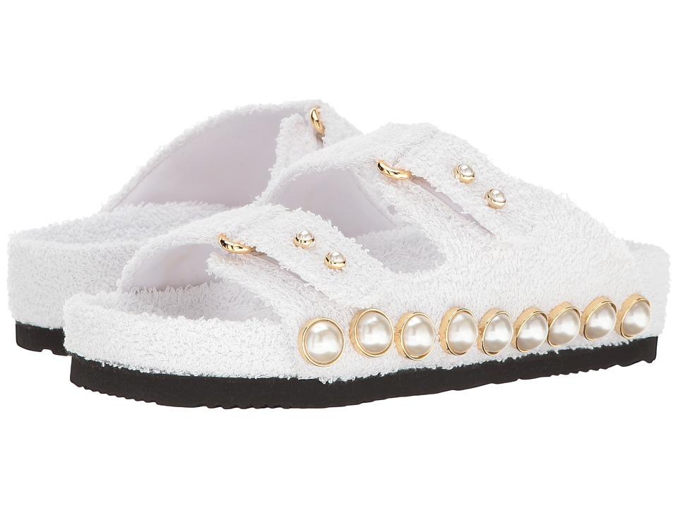 Suecomma Bonnie - Jewel Ornament Cotton Slide Sandal