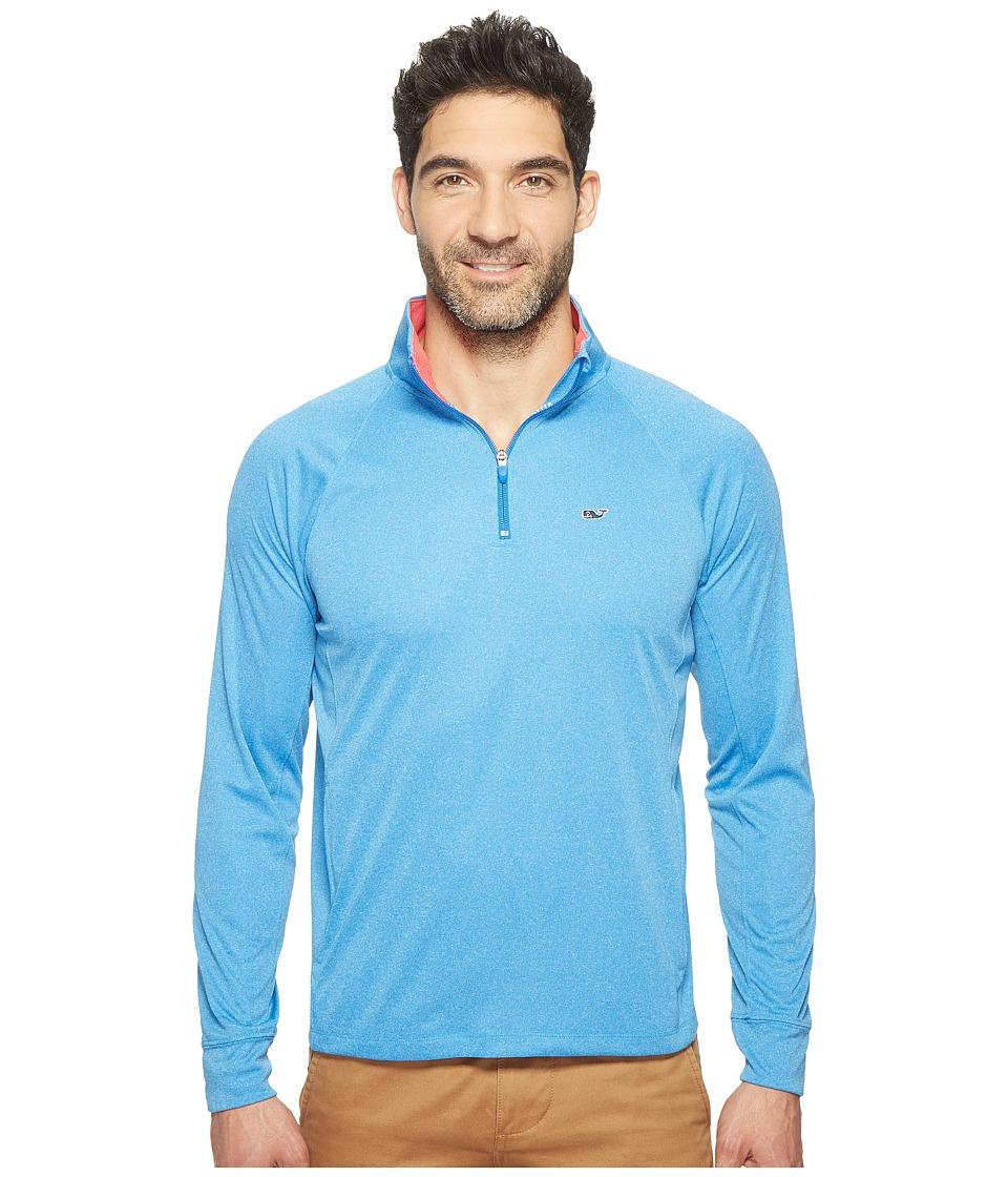 Vineyard Vines Golf - Nine Mile Heather 1/4 Zip Performance Shirt