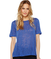 Nally & Millie - Pleated Back Elbow Sleeve Top
