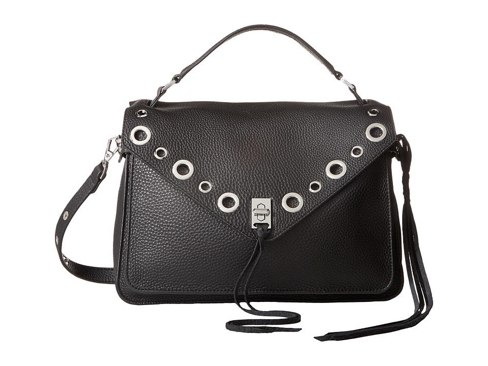 Rebecca Minkoff Darren Messenger w/ Grommets (Black) Messenger Bags