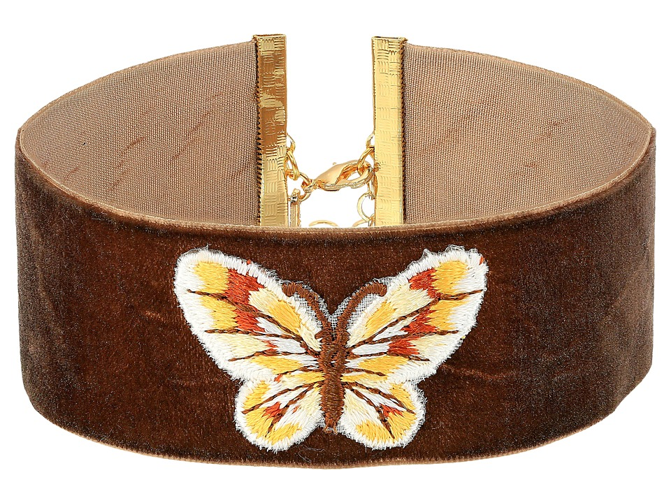 Vanessa Mooney The Phillips Choker Necklace (Brown) Necklace
